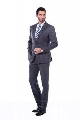 New Dark Grey Windows Slim Fit Custom Suits For Man | Customize Single Breasted Peak Lapel Chambelanes_1