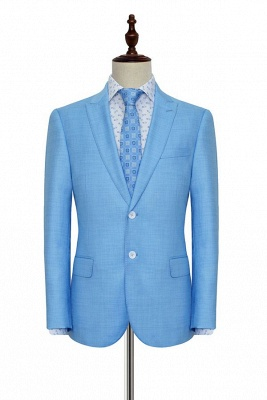 New Arrival Pool Two Button Casual Customized Tuxedos for my Quince  For Men | High Quality Peaked Lapel 2 Pockets Hand Made Wool Suit_3
