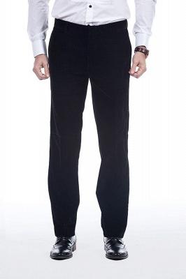 Cuello de terciopelo negro traje premium personalizado para hombre | El último traje de boda del novio del botón del dise_o uno_8