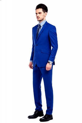 Premium Royal Blue Single Breasted Custom Suit | Peak Lapel Two Buttons Casual Suit Chambelanes_4