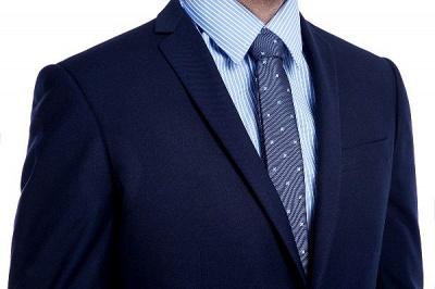 Traje de bolsillo azul marino con muesca con solapa 3 para hombres | El nuevo traje de padrino de boda para mujer_6