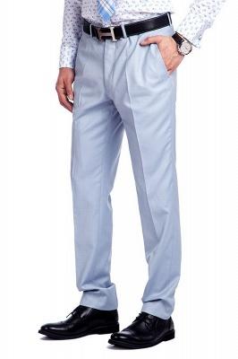 la solapa enarbolada por encargo Traje a medida azul claro | Tres bolsillos trajes de novio de boda de pecho único_8
