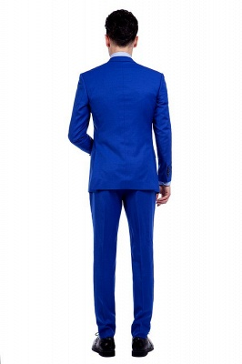 Premium Royal Blue Single Breasted Custom Suit | Peak Lapel Two Buttons Casual Suit Chambelanes_5