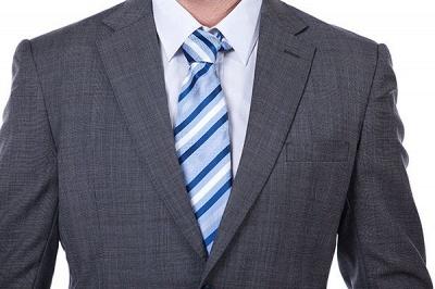 New Dark Grey Windows Slim Fit Custom Suits For Man | Customize Single Breasted Peak Lapel Chambelanes_4