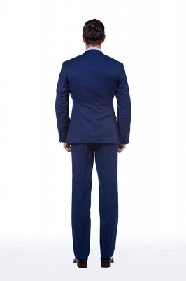 Royal Blue Peaked Lapel Chambelanes Tuxedos (Jacket Tie Vest Pants) Tuxedos | Customize Three Pocket Single Breasted Chambelanes_3