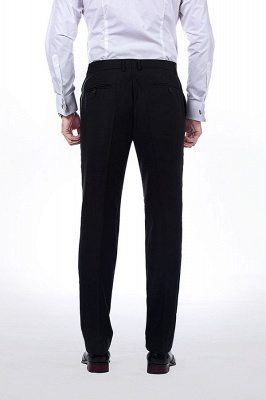 Classic Black Three Pocket Customized Tuxedos for my Quince  | Latest Design Two Button Peak Lapel Chambelanes Tuxedos_8