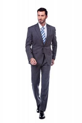 New Dark Grey Windows Slim Fit Custom Suits For Man | Customize Single Breasted Peak Lapel Chambelanes_2