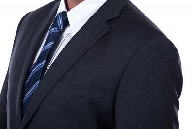 Lujo Premium gris a cuadros traje personalizado para hombres | Traje popular de la boda de los padrinos de boda de la solapa del pico_5