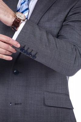 New Dark Grey Windows Slim Fit Custom Suits For Man | Customize Single Breasted Peak Lapel Chambelanes_6