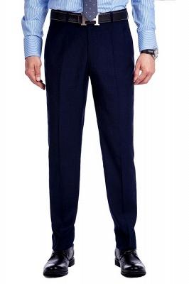 Traje de bolsillo azul marino con muesca con solapa 3 para hombres | El nuevo traje de padrino de boda para mujer_8