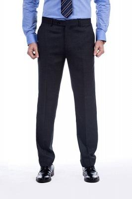 Gris oscuro 2 bolsillos trajes a medida delgados Traje casual de solapa | con muescas Personalizar esmoquin de boda_7