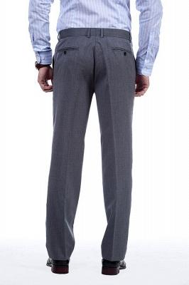 Nuevo dise_o de dos botones de un solo pecho traje personalizado | Alta calidad 2 piezas gris pico solapa novio_9