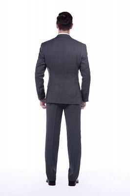 New Dark Grey Windows Slim Fit Custom Suits For Man | Customize Single Breasted Peak Lapel Chambelanes_3