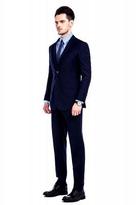 Traje de bolsillo azul marino con muesca con solapa 3 para hombres | El nuevo traje de padrino de boda para mujer_3