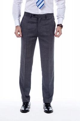 New Dark Grey Windows Slim Fit Custom Suits For Man | Customize Single Breasted Peak Lapel Chambelanes_7