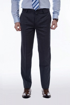 Double Breasted Stripe Tailoring Suit | Fashion Peak Lapel 3 Pockets Chambelanes Tuxedos For Men_7
