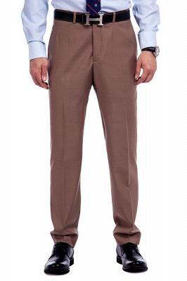 Traje de negocios a medida con solapa de pecho cruzado marrón claro | Traje de hombre de moda 2019 de alta calidad con 3 bolsillos_7