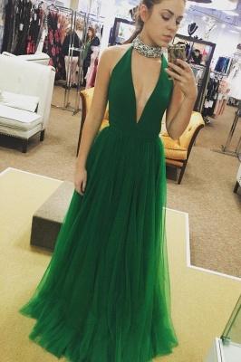 Elegant Crystal Halter Banquet Dresses | Sheer Sleeveless Formal Dresses | Banquet Dresses Online_2