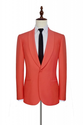 New Arrival Single Breasted One Button 2 Pocket Tailored Suit | Watermelon Red Shawl Collar Custom Suit Quinceanera Tuxedos for Chambelanes_3