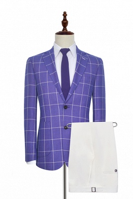 Hot Recommend Violet Purple Two Patch Pockets Custom Suit | Classic Single Breasted Peak Lapel Quinceanera Suits