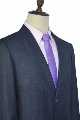 Dark Grey Wool Stripe Two botton Suit For Men | New Single Breasted Quinceanera Tuxedos_6