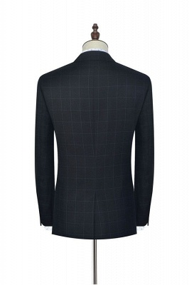 Black Checked Wool Three Slant Pocket Classic Suit For Men | Single Breasted Peaked Lapel Made to Measure Tuxedos for my Quince_4