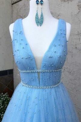 Elegantes lentejuelas correas vestidos de baile   Vestidos de noche sin mangas con cuentas_3