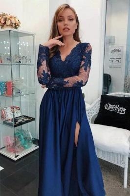 Sexy apliques con cuello en V vestidos de fiesta | Vestido de noche sin mangas con abalorios laterales_2