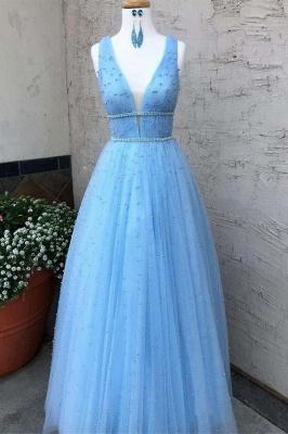 Elegantes lentejuelas correas vestidos de baile   Vestidos de noche sin mangas con cuentas_1