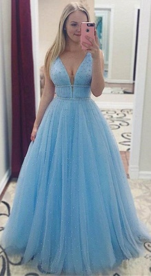 Elegantes lentejuelas correas vestidos de baile | Vestidos de noche sin mangas con cuentas_2
