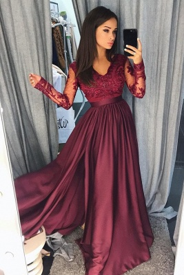 Simple  Applique Hot Sexy V-Neck Banquet Dresses | Side slit Sleeveless Alluring Formal Dresses with Sparkly Beads_3