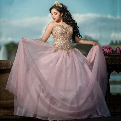 Marvelous Sweetheart Beadings Ball Gown Sweet 16 Dresses | Stunning Quinceanera Dresses Long_1