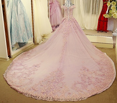Off the Shoulder Sweetheart Sleeveless Quinceanera Dress_3