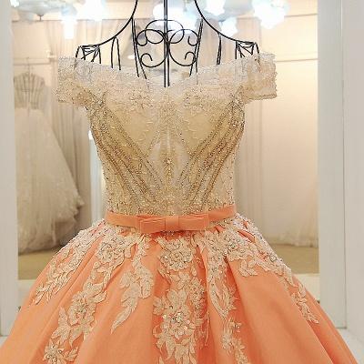 Ball-gown Off-the-shoulder Appliques Sash Quinceanera Dresses_1