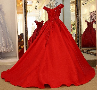 Exquisite Off-the-Shoulder Sleeveless Quinceanera Dress_2