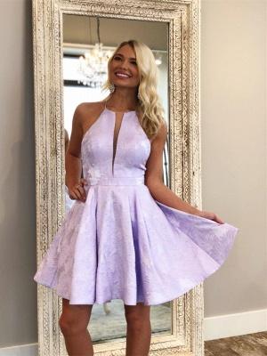 Deep-Sexy V-Neck Halter Appliques Quinceanera Sleeveless Dama Dress_2