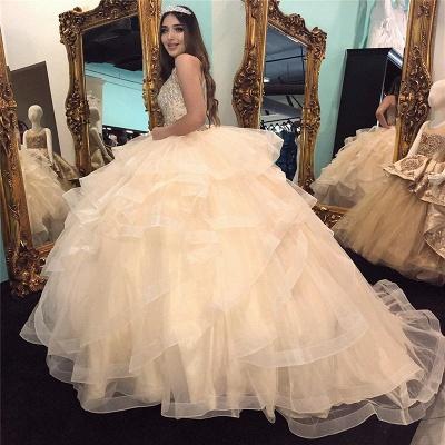 Marvelous Jewel Beadings Ball Gown Sweet 16 Dresses | Cascading Ruffles Quinceanera Dresses Long_2