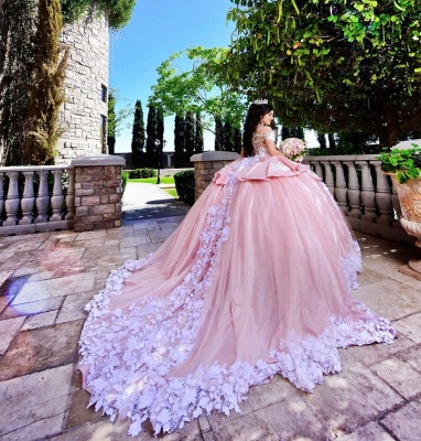 Fascinating Off-the-shoulder Appliques Ball Gown Quinceanera Dresses | Appliques 15 Dresses Long_2