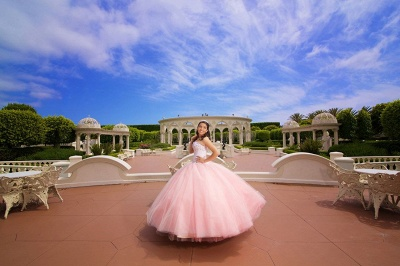 Excellent Pink Sweetheart Beadings Ball Gown Quince Dresses | Excellent XV Dresses Long_2
