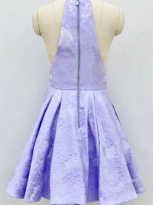 Deep-Sexy V-Neck Halter Appliques Quinceanera Sleeveless Dama Dress_6