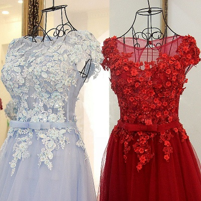 Jewel Sleeveless Flowers Quinceanera Dress_4