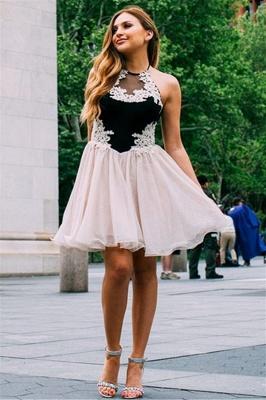Jewel Appliques Sleeveless Mini Dama Dress_1