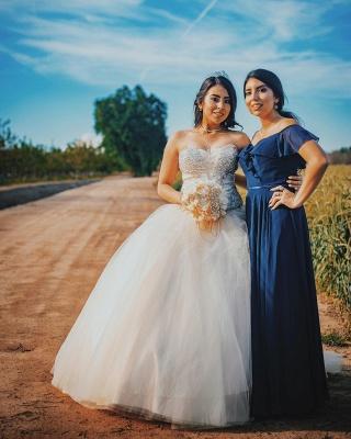 Vestido de fiesta maravilloso vestido de bola dulce de los vestidos 16 | Tren de barrido quinceañera vestidos largos_2