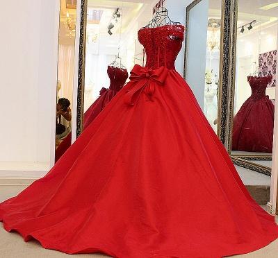Exquisite Sweetheart Sleeveless Pearls Quinceanera Dress_2