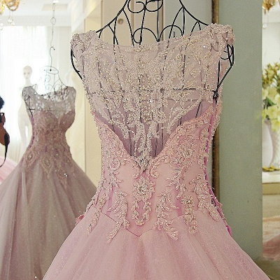 Exquisite Sweetheart Appliques Pearls Quinceanera Dress_4