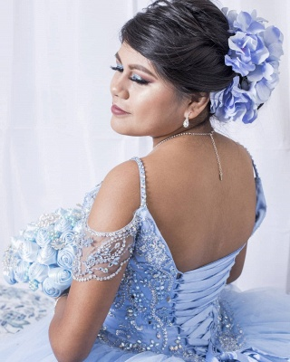 Marvelous Spaghetti Straps Beadings Ball Gown Sweet 16 Dresses | Stunning Quinceanera Dresses Long_2