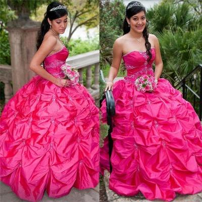 Exquisitos vestidos sin tirantes vestido de bola vestidos de quinceañera | Pick-up Sweet 16 vestidos largos_1