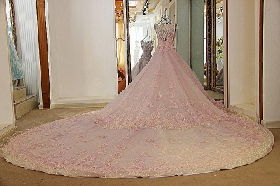 Exquisite Sweetheart Appliques Pearls Quinceanera Dress_5