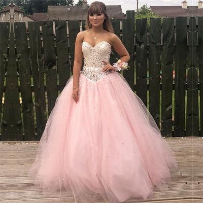 Exquisito vestido rosa de bola vestido de fiesta de quincea_era | Listones dulce 16 vestidos largos_1