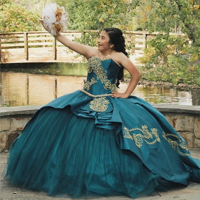 Fabulous Sweetheart Embroidery Ball Gown XV Dresses | Layered Quinceanera Dresses Long_1